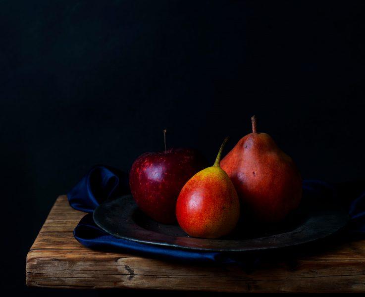 apple-pears-still-life-renaissance-fotografia jedla daylight food photography london bratislava