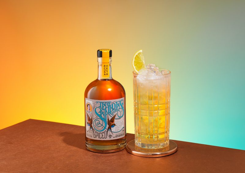 rockstar spiced rum lemonade drink photography graphic yellow photographer fotograf london bratislava profoto