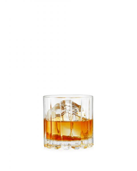 whisky-on-rock-ice-white-background-cut out shot