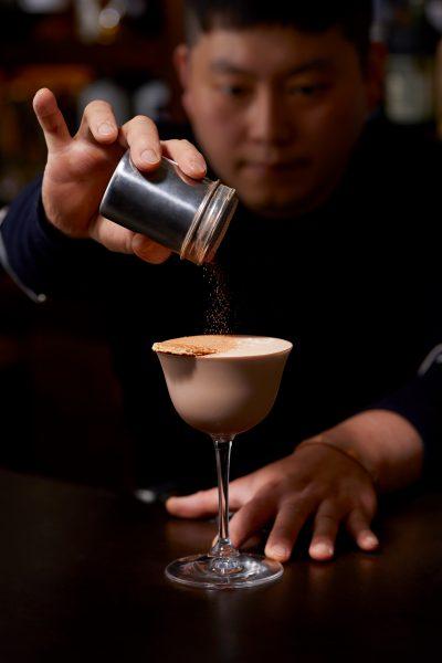Tae Yeol Kim ogam tapas bar dark rum cocoa powder nutella cocktail
