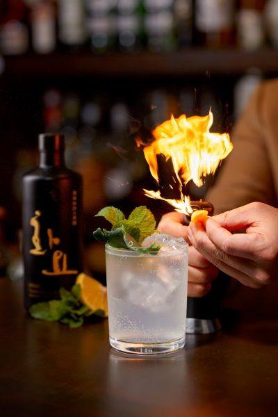 Tae Yeol Kim ogam tapas bar hwayo muscat lemon fire cocktail soda water juice